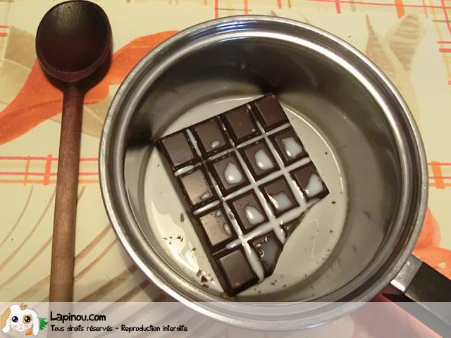 Etape 1 : Chocolat et lait