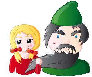 La petite fille et l'effrayant barbu